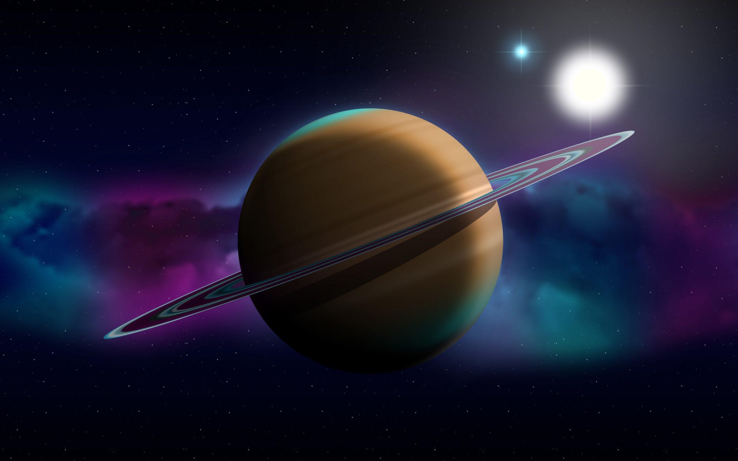 Télécharger Fonds D'écran 4K, Saturne, Art 3D, Nébuleuse à Saturne Dessin