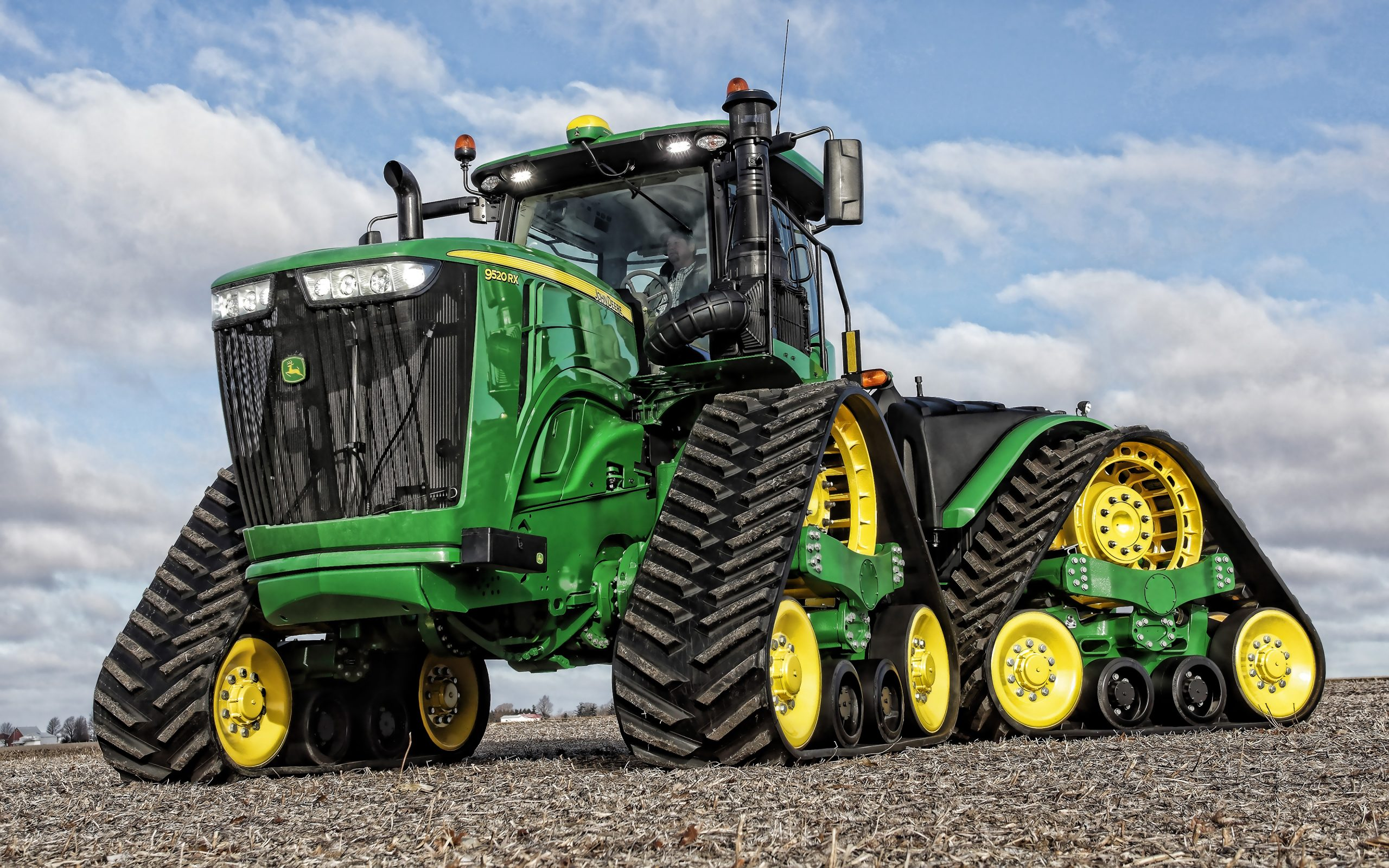 Télécharger Fonds D'écran John Deere 9520Rx, Tracteur À destiné Dessin Animé De Tracteur John Deere
