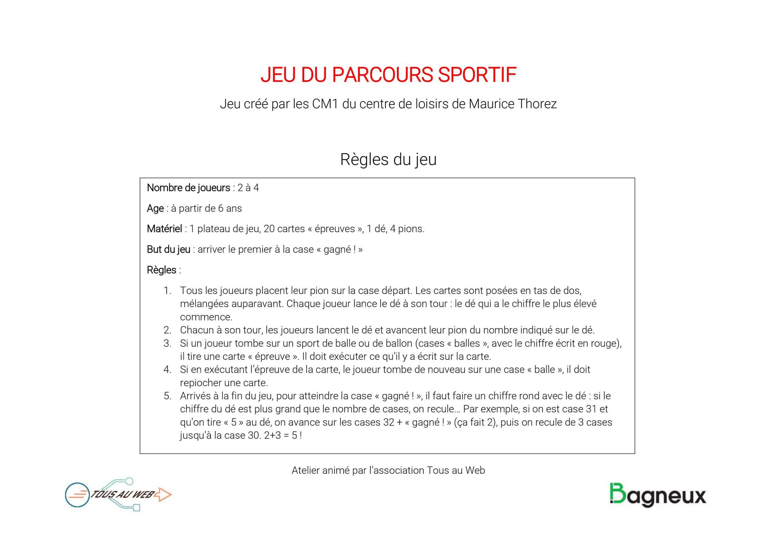 Télécharger] Jeu De Société: Le Parcours Sportif - Tous Au Web à Jeux De Parcours Gratuit