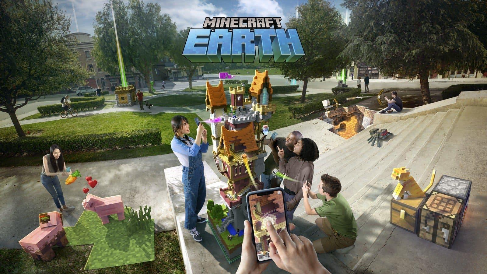 Télécharger Jeu Minecraft Earth Apk 2019 Première Gratuit intérieur Jeux De Squelette Gratuit