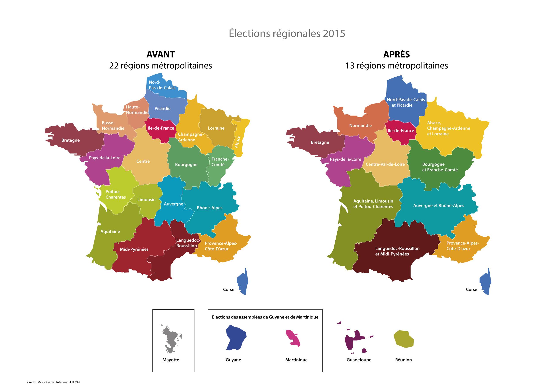 Télécharger La Nouvelle Carte Des Régions / Actualités intérieur Carte Des Régions Et Départements De France À Imprimer