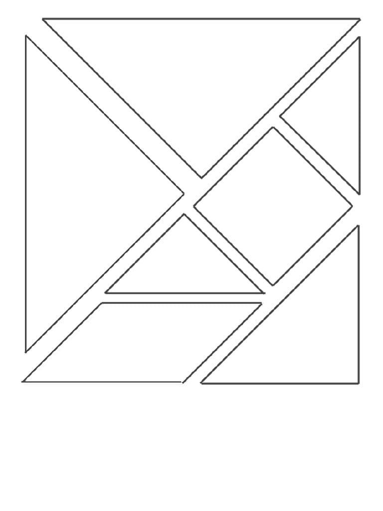 Télécopie Pleine Page Par Lolo - Tangram Découpe Pièces Pdf destiné Pièces Tangram