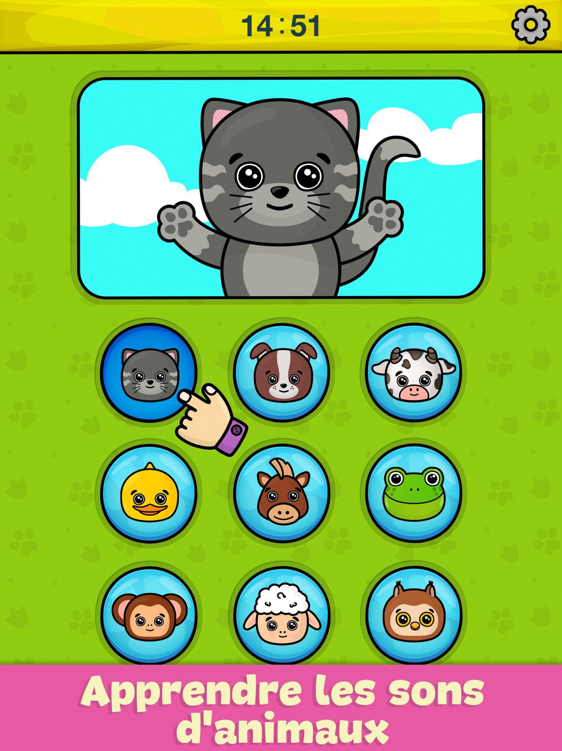 Téléphone Bébé – Jeu Éducatif Pour Enfant Pour Android pour Jeux D Animaux Pour Fille