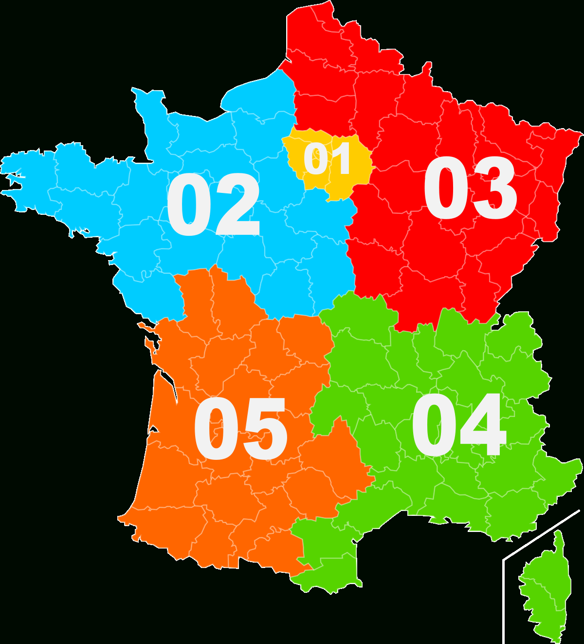 Telephone Numbers In France - Wikipedia concernant Carte Departement Numero