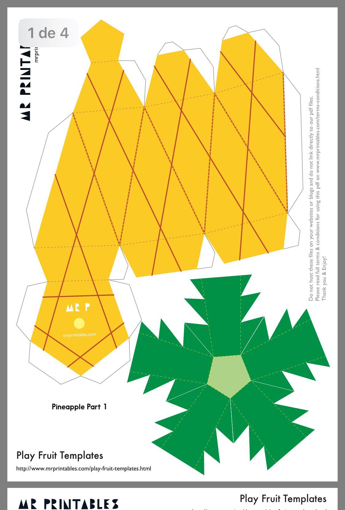Tempelate | Paper Fruit, Paper Crafts, Diy Paper destiné Decoupage Papier Facile