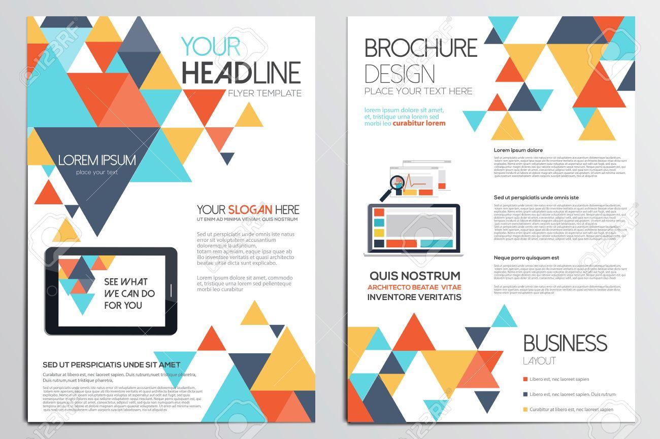 Template Design Brochure. Les Formes Géométriques, Abstraites Fond Moderne,  Un Design Graphie Concept.flat. Vecteur serapportantà Les Formes Geometrique