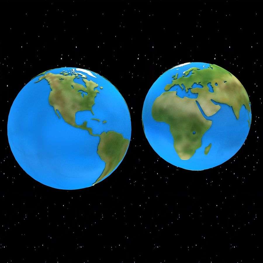 Terre De Dessin Animé Modèle 3D $50 - .unknown .lwo .max .ma serapportantà Image De La Terre Dessin
