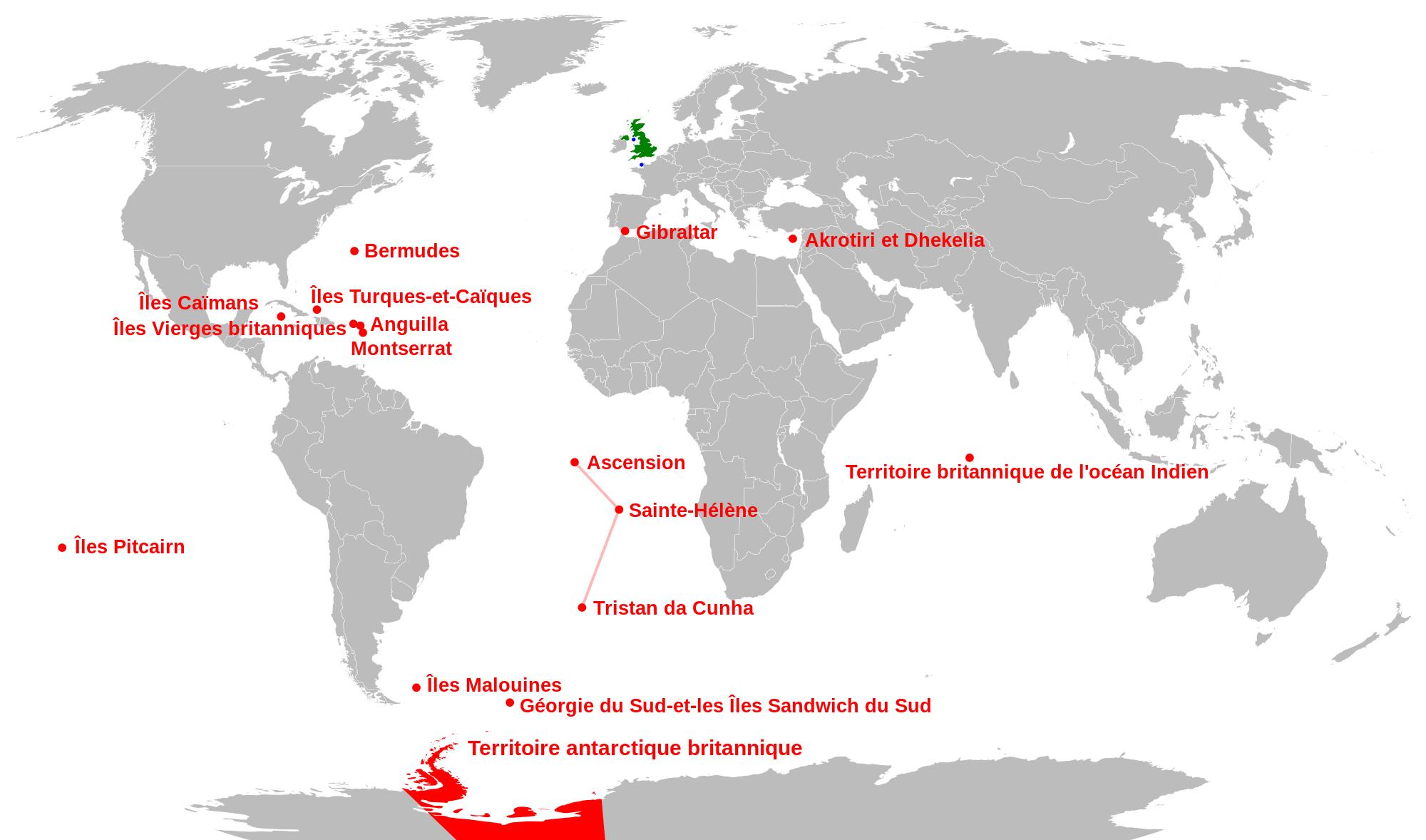 Territoire Britannique D'outre-Mer - Wikiwand pour Département D Outre Mer Carte