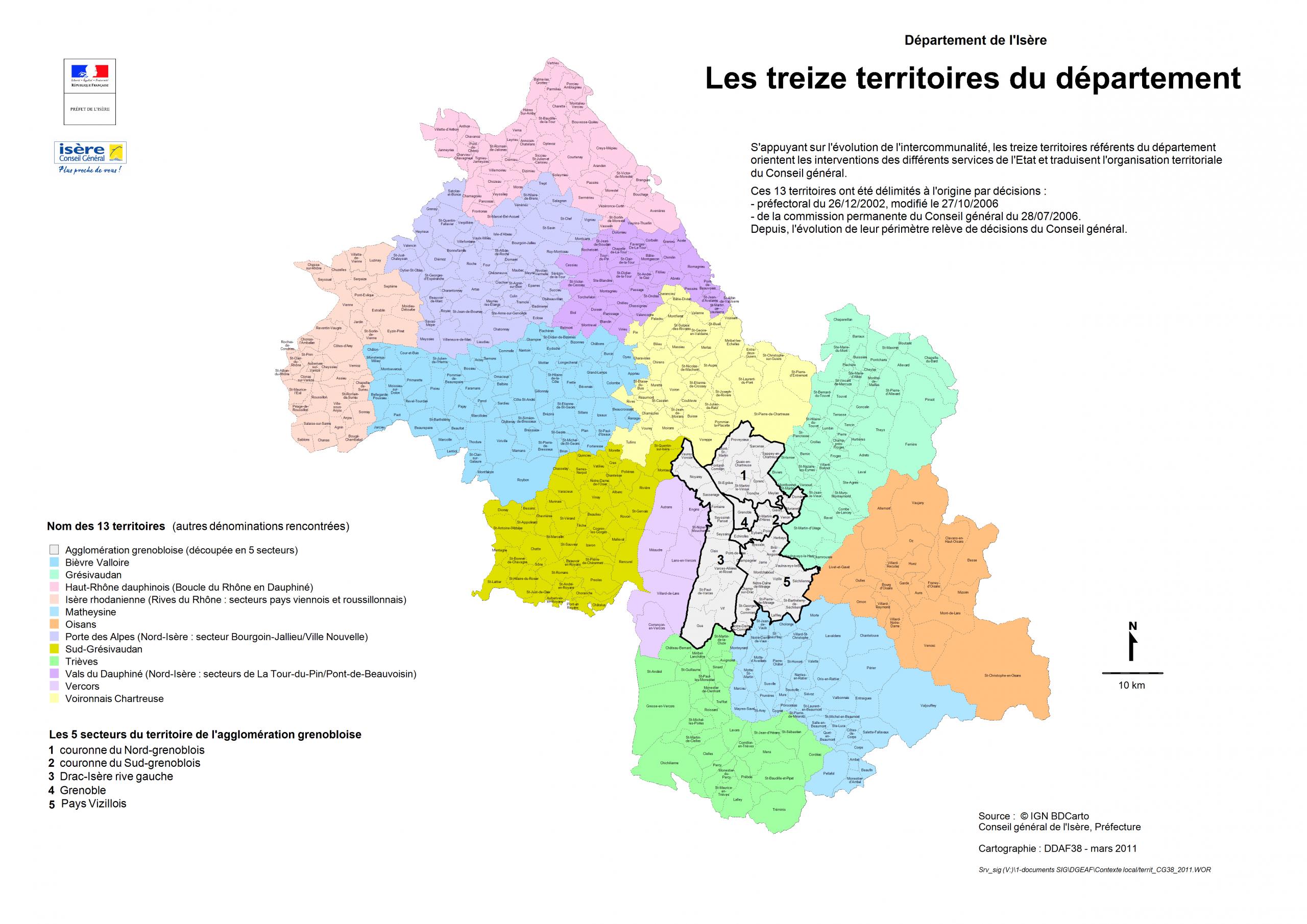 Territoires Du Département pour Département 13 Carte