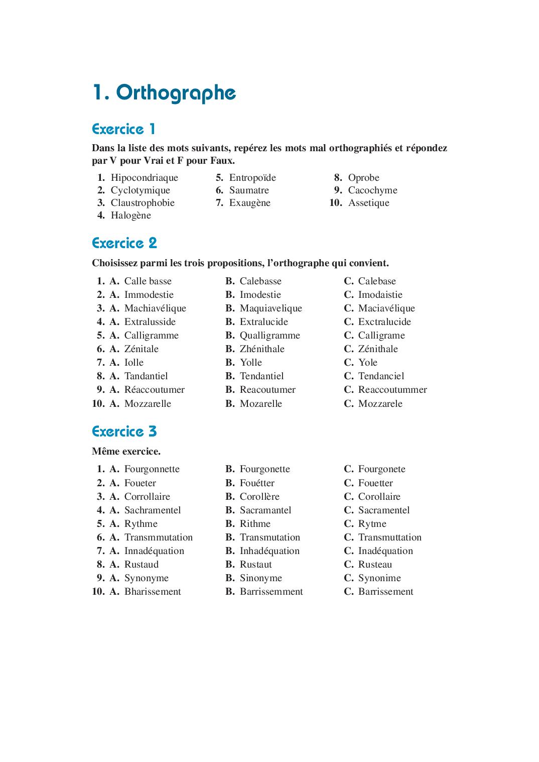 Test Avec Réponses: Grammaire Et Orthographe, Mathématiques encequiconcerne Exercice Enfant 4 Ans