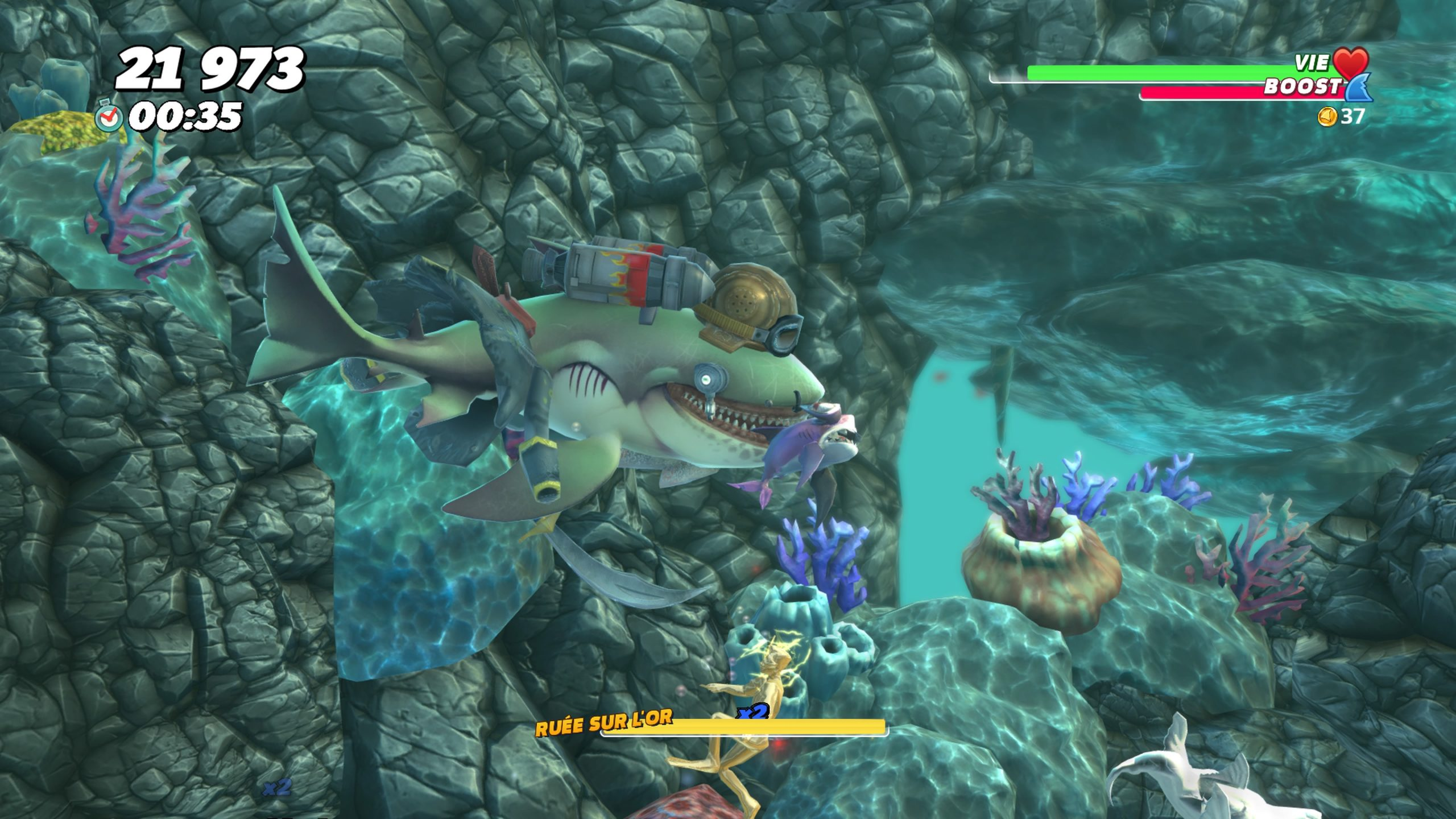 Test De Hungry Shark World - Baignade Interdite ? @jvl encequiconcerne Requin Jeux Video