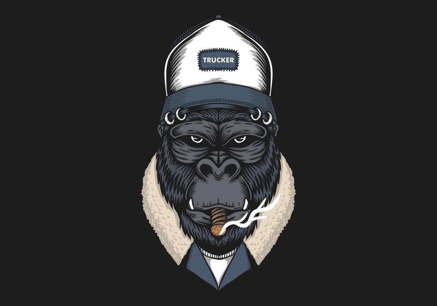 Tête De Gorille Portant Illustration De Chapeau De serapportantà Jeux De Gorille Gratuit