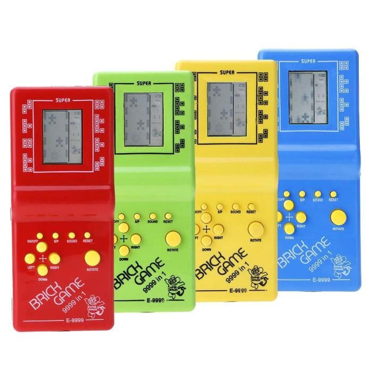 Tetris Jeu Poche Classique Lcd Électronique Brique Console avec Casse Brique Enfant