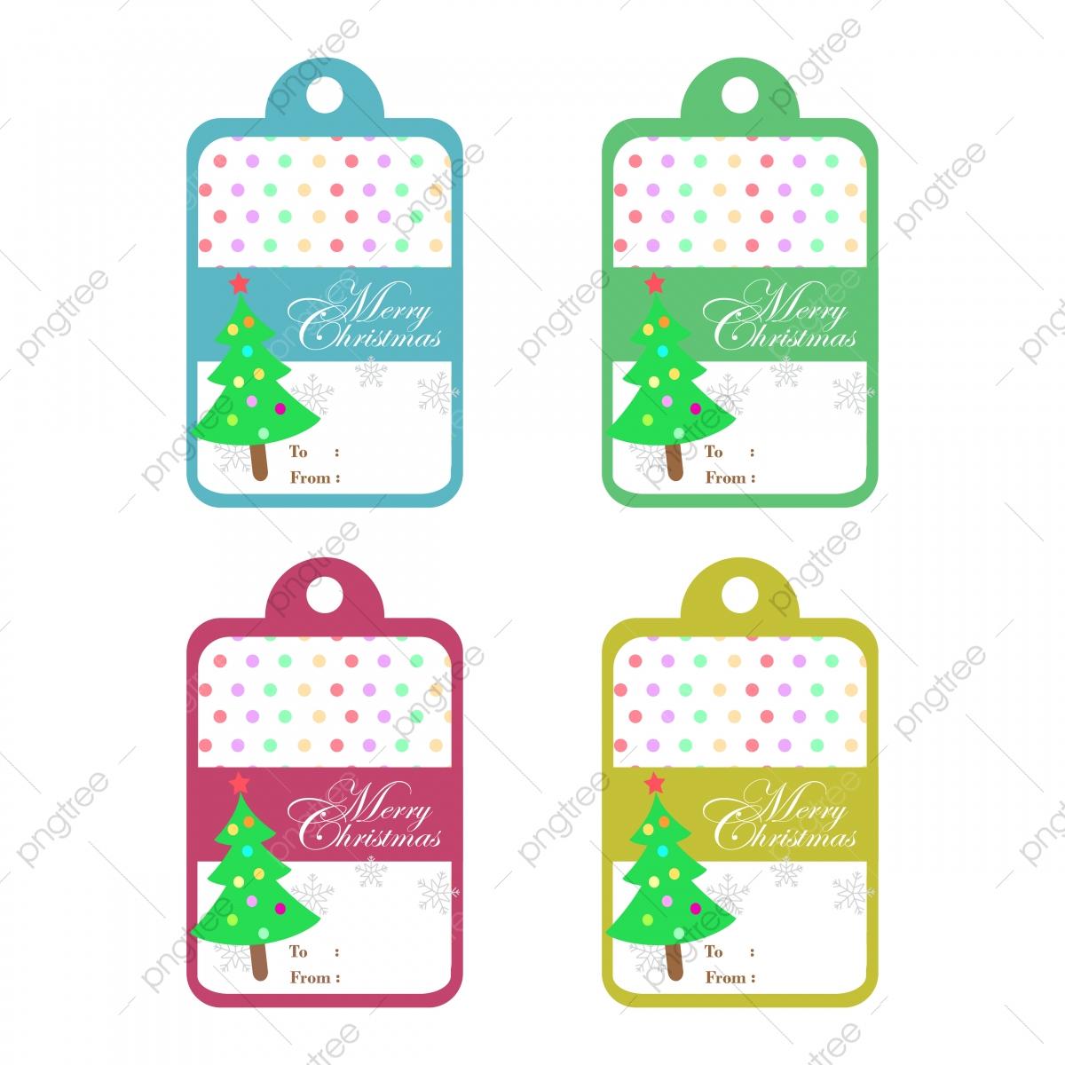 Texte Joyeux Noël Et Arbre De Noël Sur Fond Coloré Pour tout Etiquette Pour Cadeau De Noel