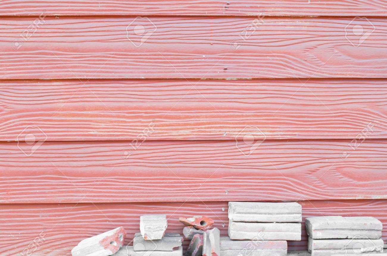 Texture En Bois Rouge Horizontale Et Brique Gris Cassé destiné Casse Brique En Ligne
