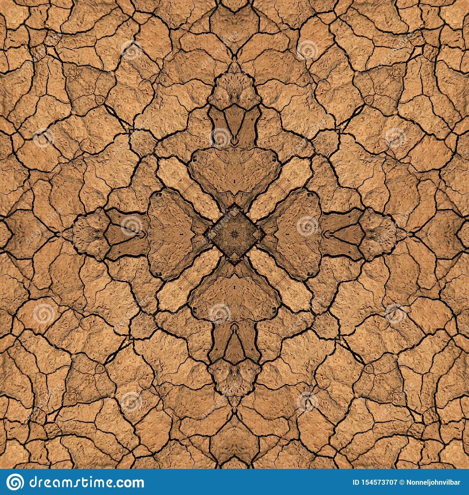 Texture Symétrique Sans Couture De Sol De Terre D'abrégé Sur intérieur Arts Visuels Symétrie