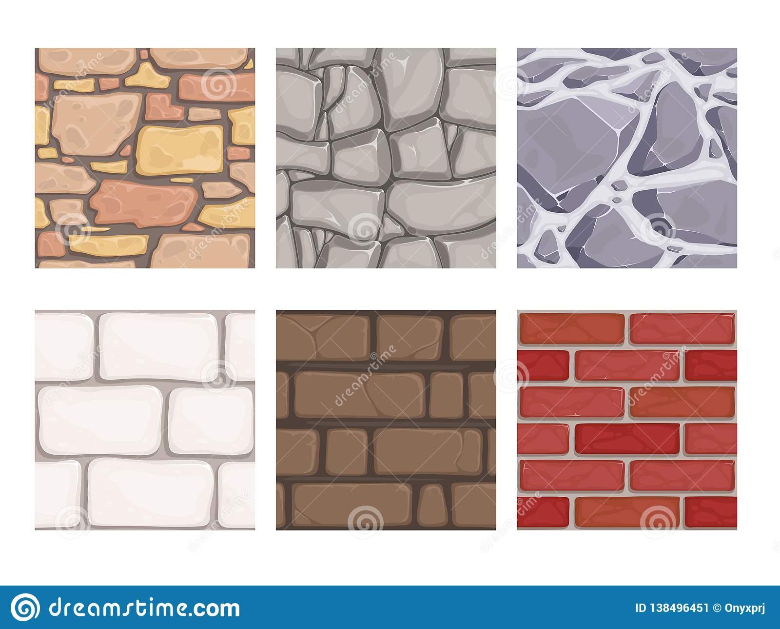 Textures De Jeu De Mur Modèles Au Sol De Vecteur De Papier tout Jeu De Brique Gratuit