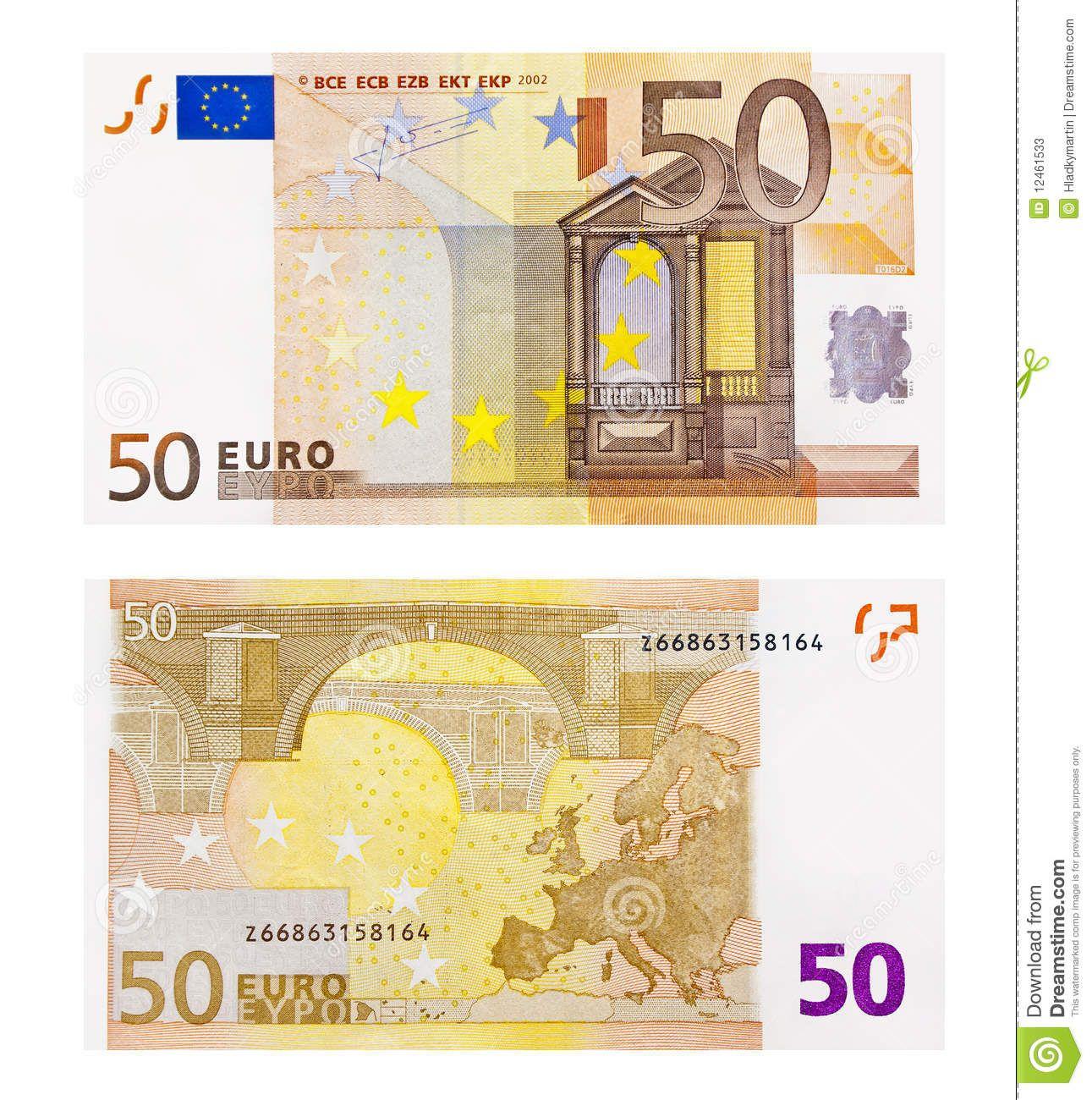 The 50 Euro Bill Represents Renaissance Architecture, The concernant Pièces Et Billets En Euros À Imprimer
