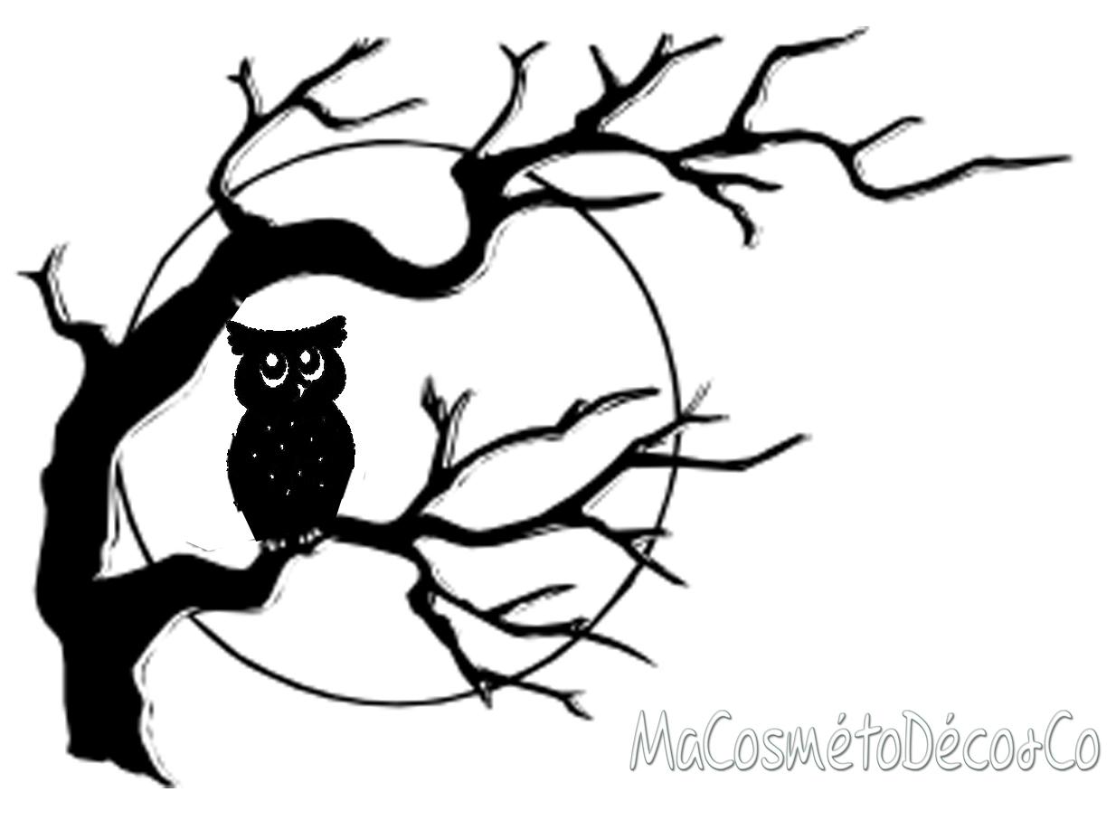 """The Black Owl"""", Nouveau """"chouette"""" Décor Pour Halloween ! intérieur Dessin Hibou Facile"""