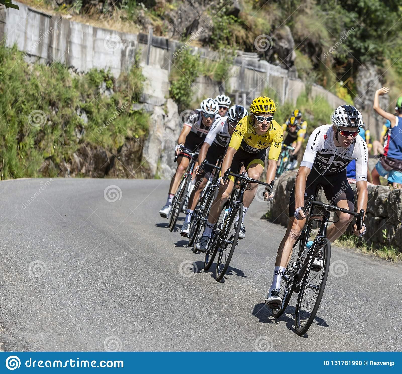 The Cyclist Chris Froome - Tour De France 2018 Editorial avec Region De France 2018