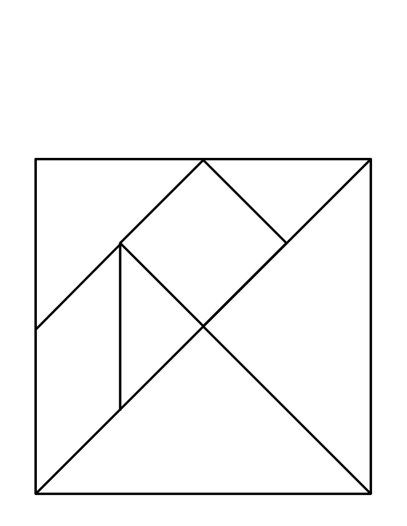 The Education Of Wang Shen: A Tale Told With Tangrams à Pièces Tangram