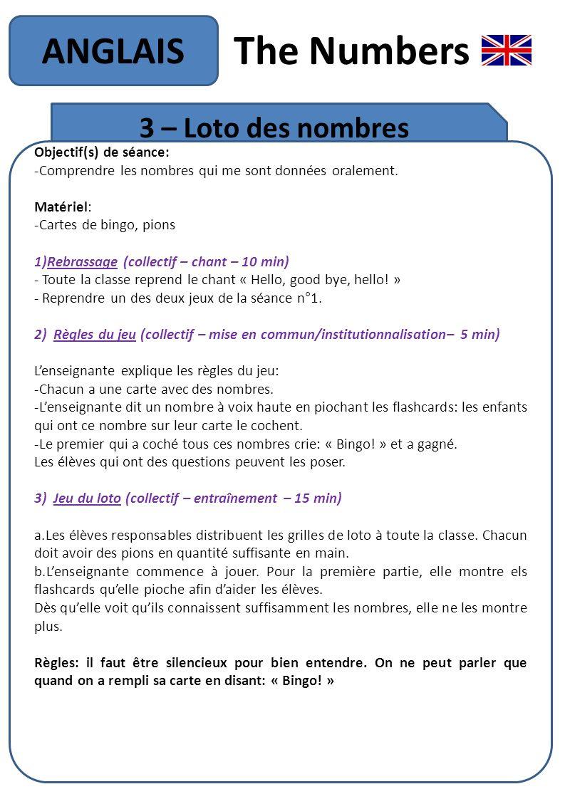 The Numbers Anglais Objectif De La Séquence: - Ppt Télécharger serapportantà Jeux Avec Des Nombres
