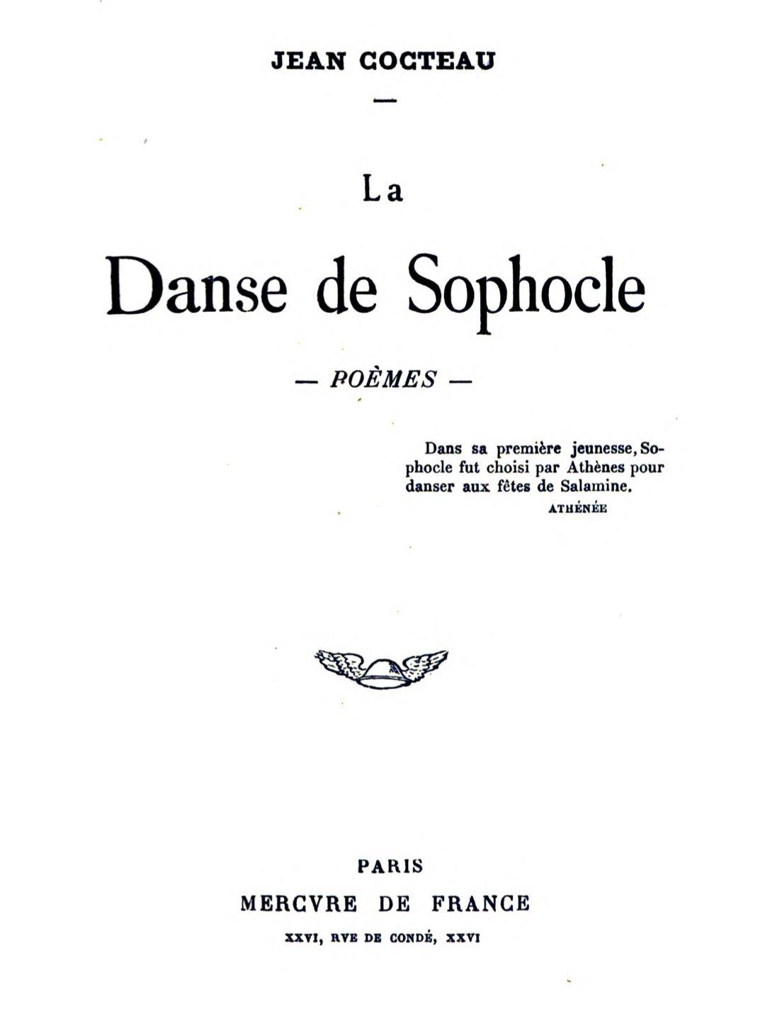 The Project Gutenberg Ebook Of La Danse De Sophocle: Poèmes tout Ivre Mots Fleches