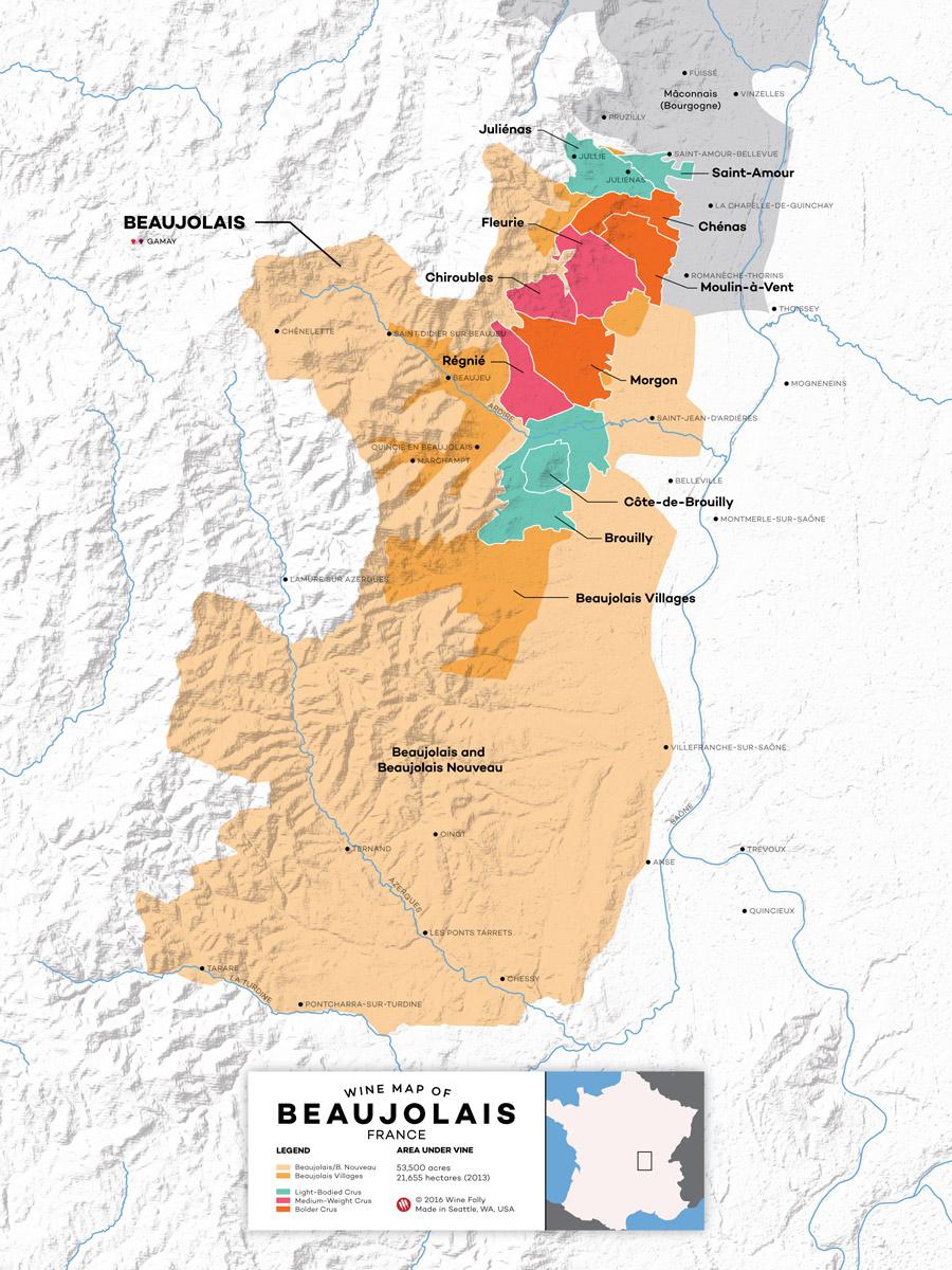 The Secret To Finding Good Beaujolais Wine | Wine Folly serapportantà Nouvelle Region France