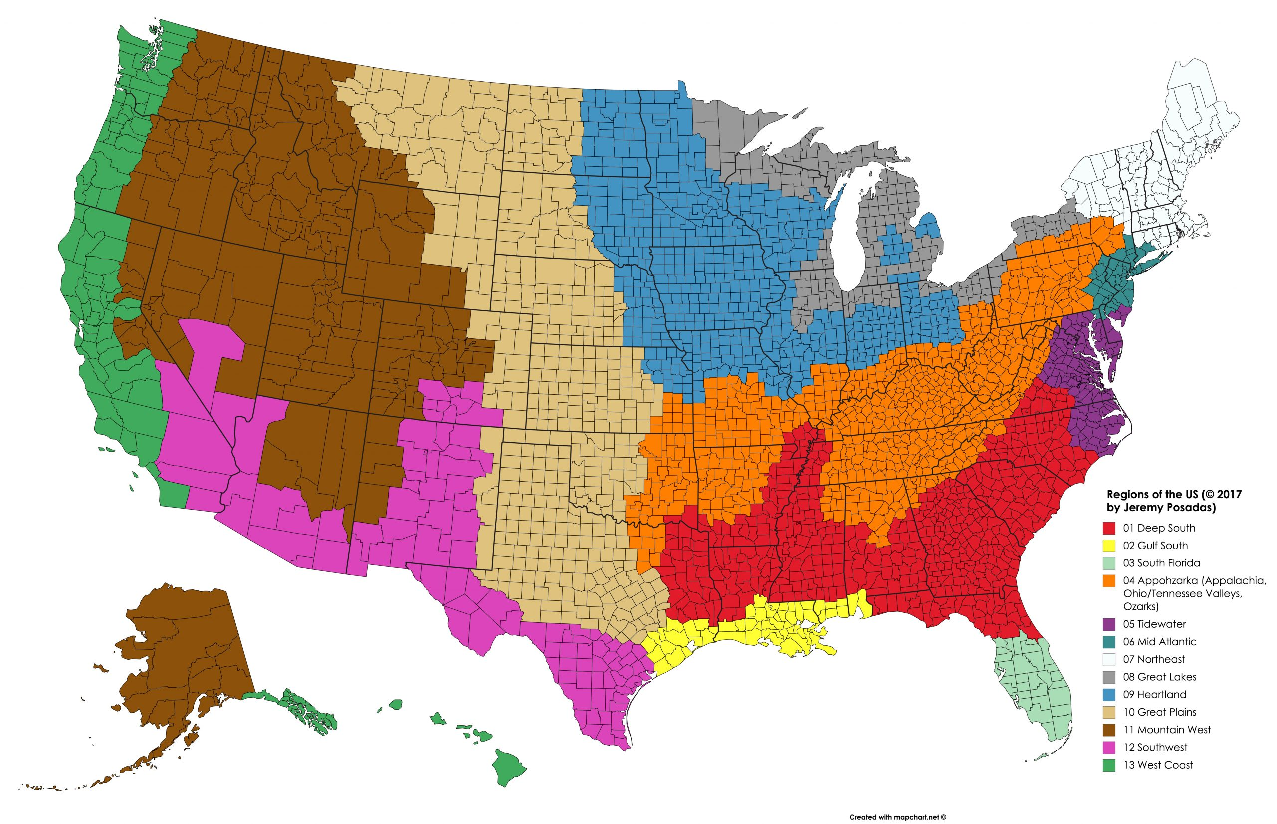 The United States: A Confederation Of 13 Regions – In The Arenas pour Les 13 Régions
