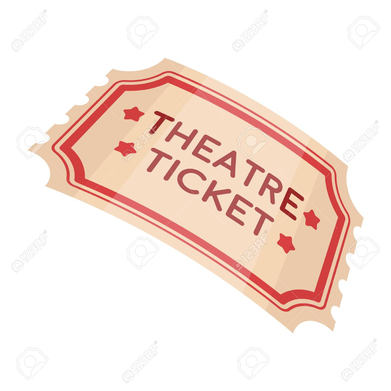 Theatre Ticket Icon In Cartoon Style Isolated On White Background avec Dessin Theatre