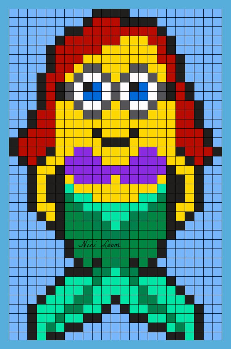 Theme Moi Moche Et Mechant encequiconcerne Modele Dessin Pixel