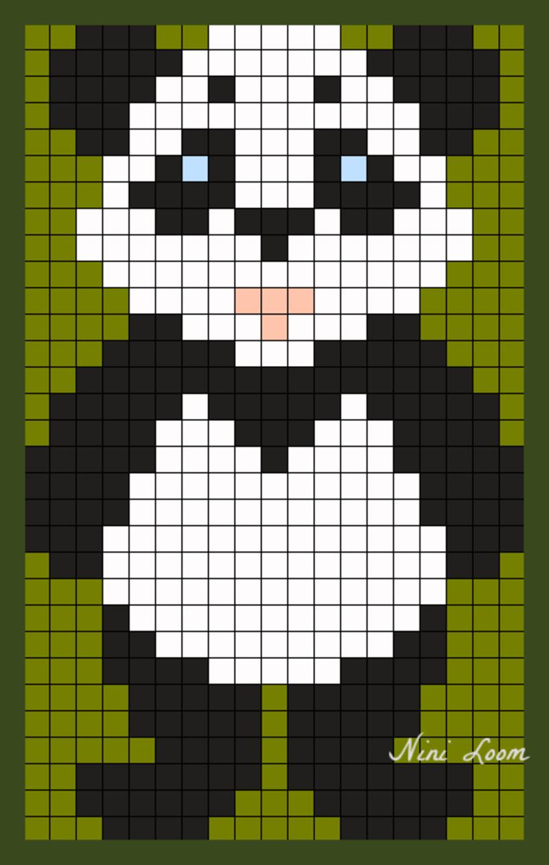 Theme Ours Panda Koala serapportantà Modele Dessin Pixel