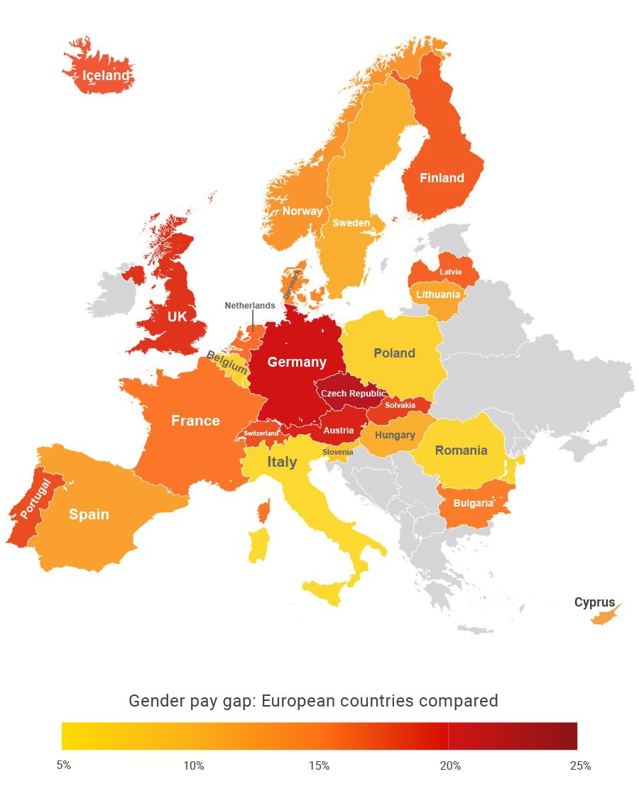 These Are The Best And Worst Countries For The Gender Pay tout Pays Et Capitales Union Européenne