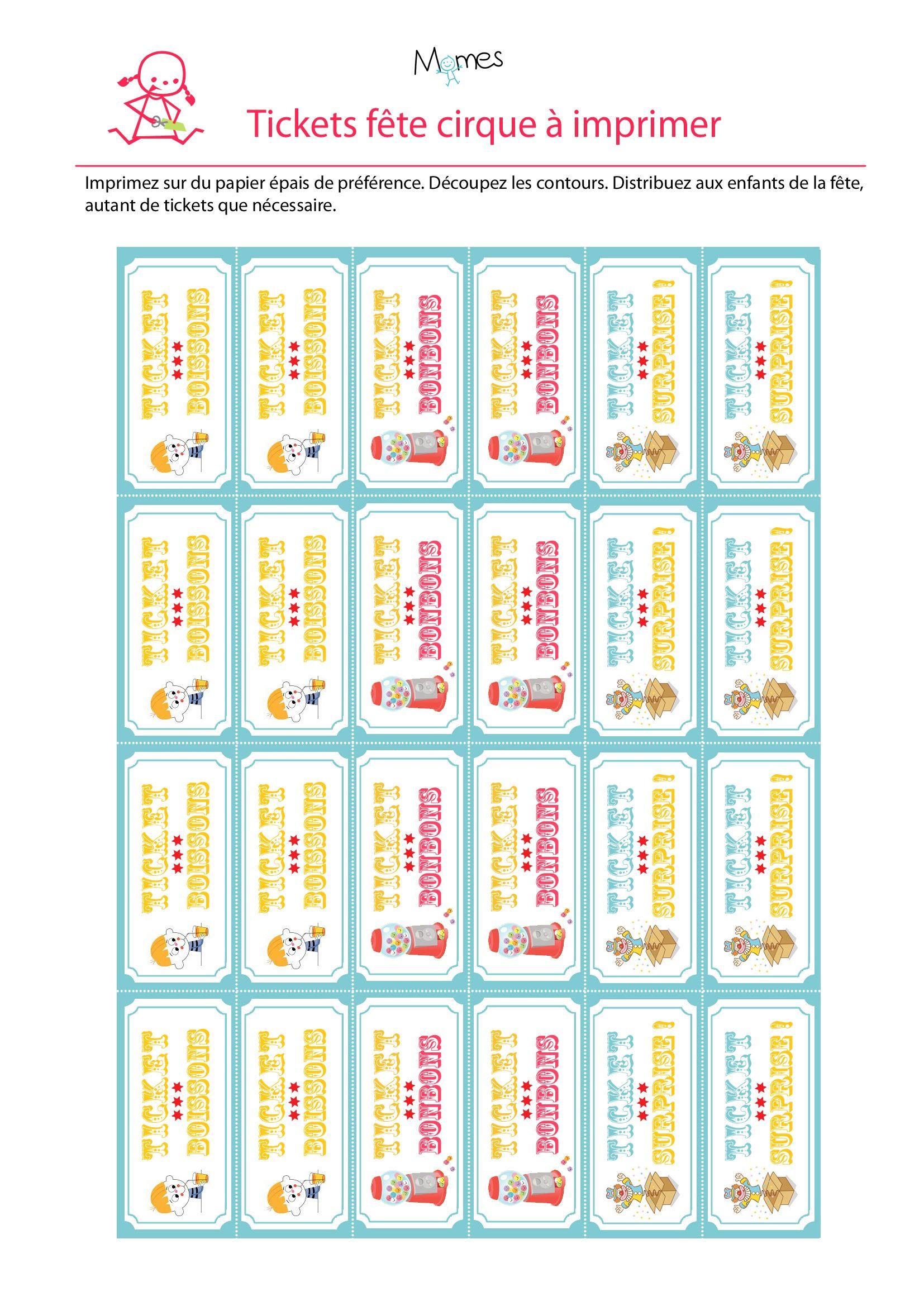 Ticket À Imprimer Pour Une Fête Cirque | Decoration Fete encequiconcerne Billets Et Pièces En Euros À Imprimer