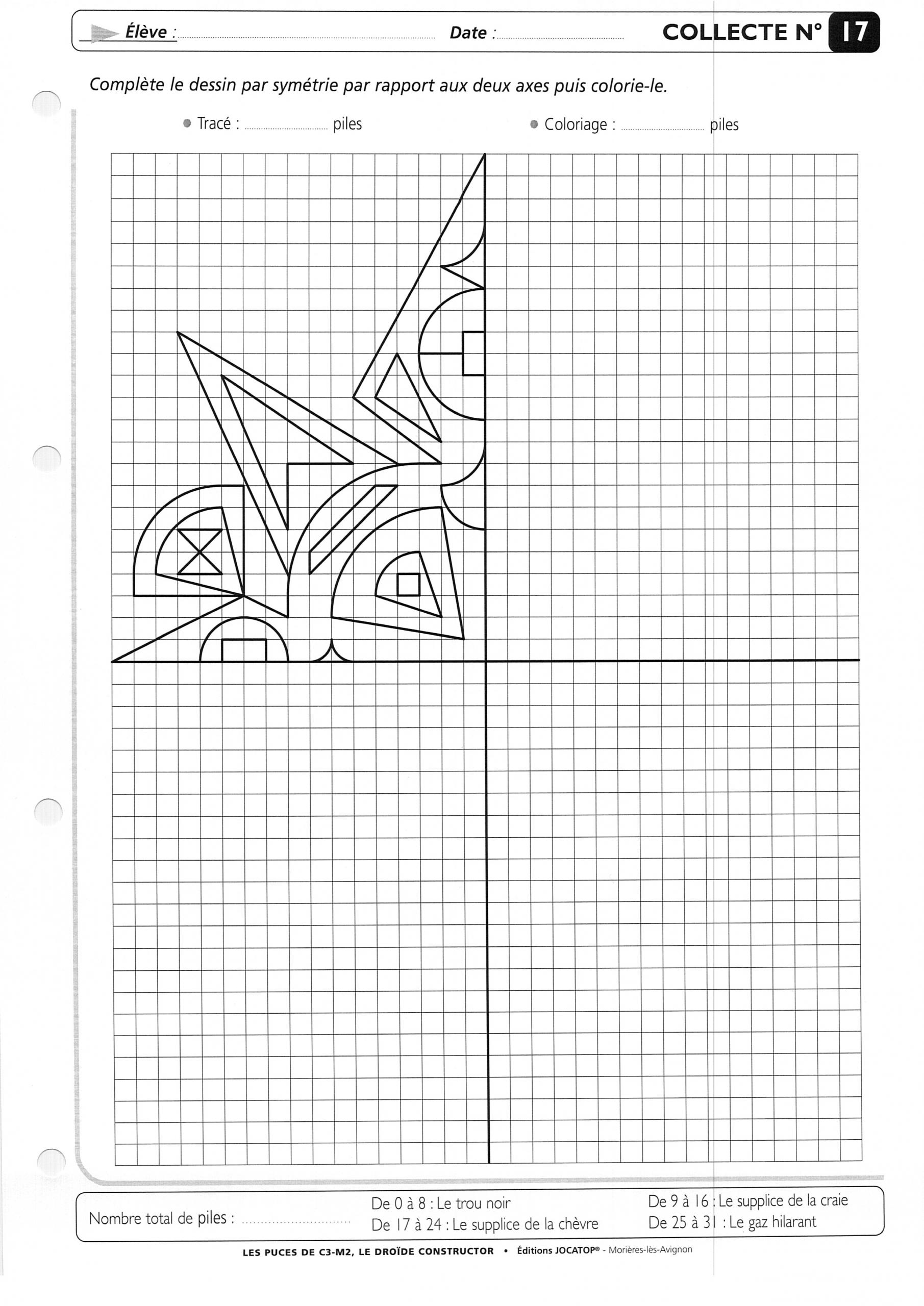 Tilleuls - Cm2 : Téléchargements dedans Dessin Symétrique A Imprimer