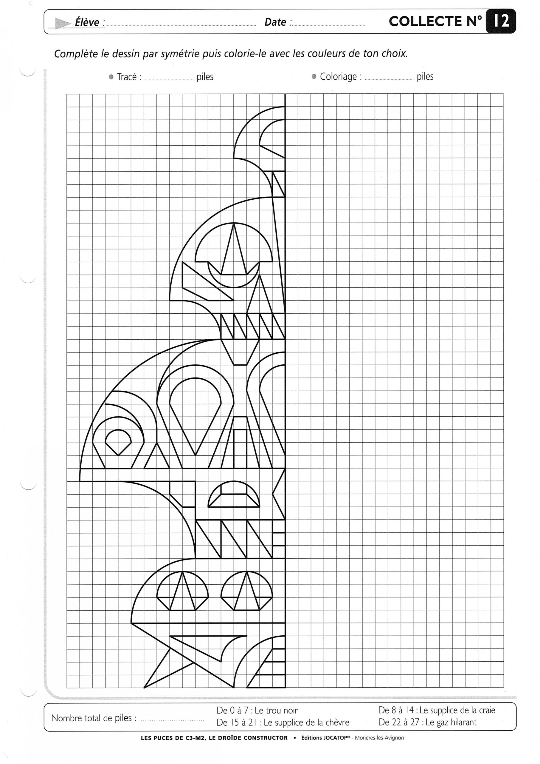 Tilleuls - Cm2 : Téléchargements destiné Dessin Symétrique A Imprimer