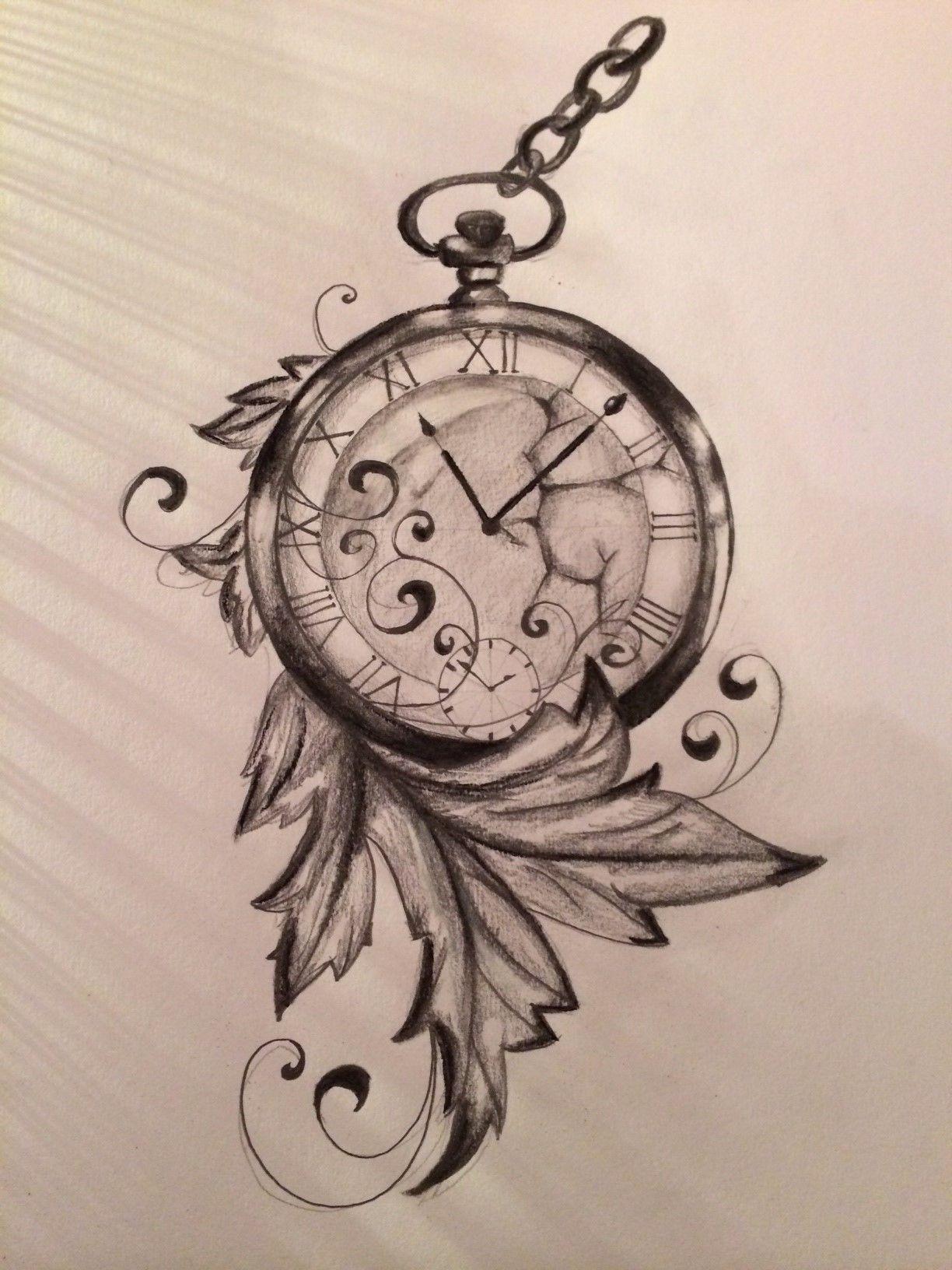 Time Is Run Away.. Made By Me   Horloge Dessin, Uage intérieur Dessin D Horloge