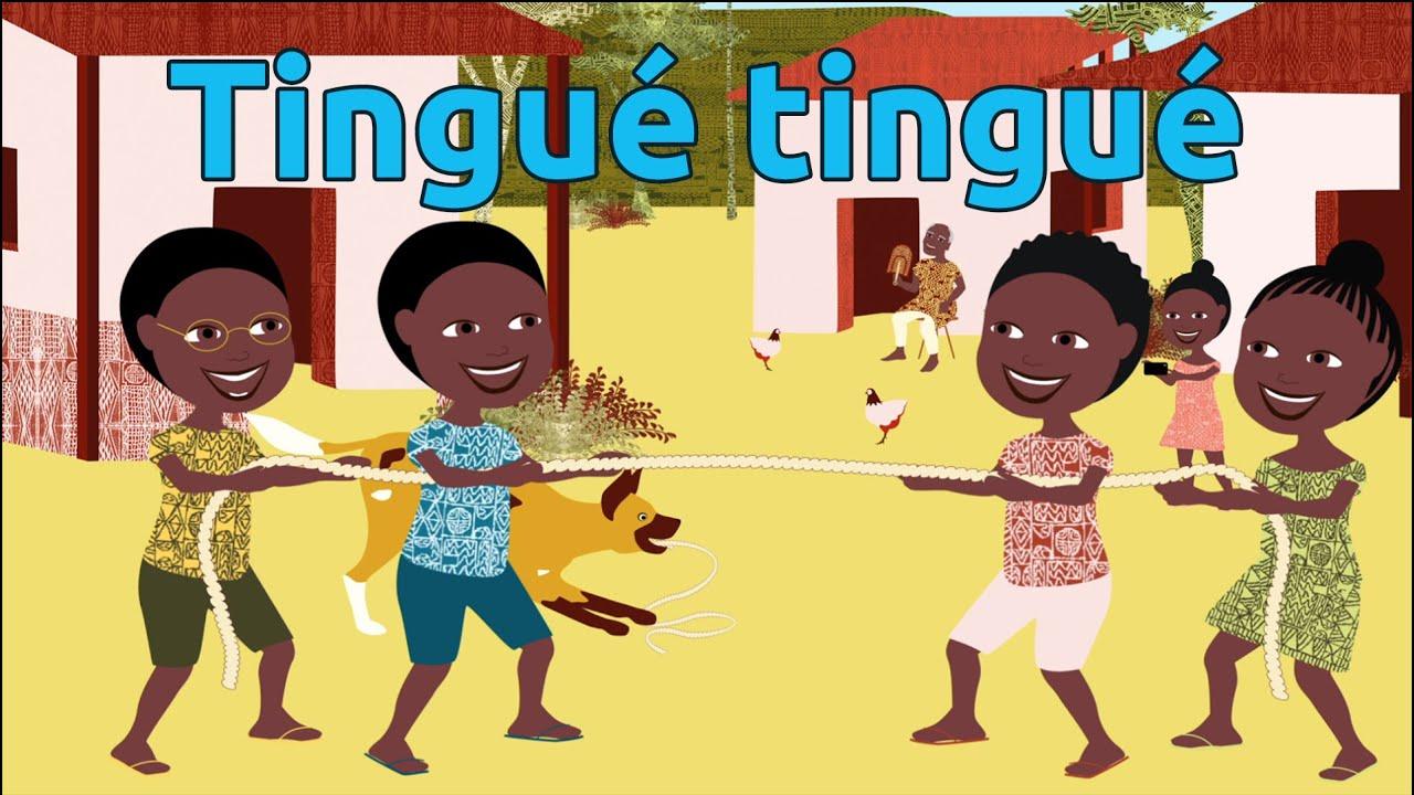 Tingué Tingué - Comptine Africaine Pour Enfants (Avec Paroles) intérieur Jeux Africains Pour Enfants