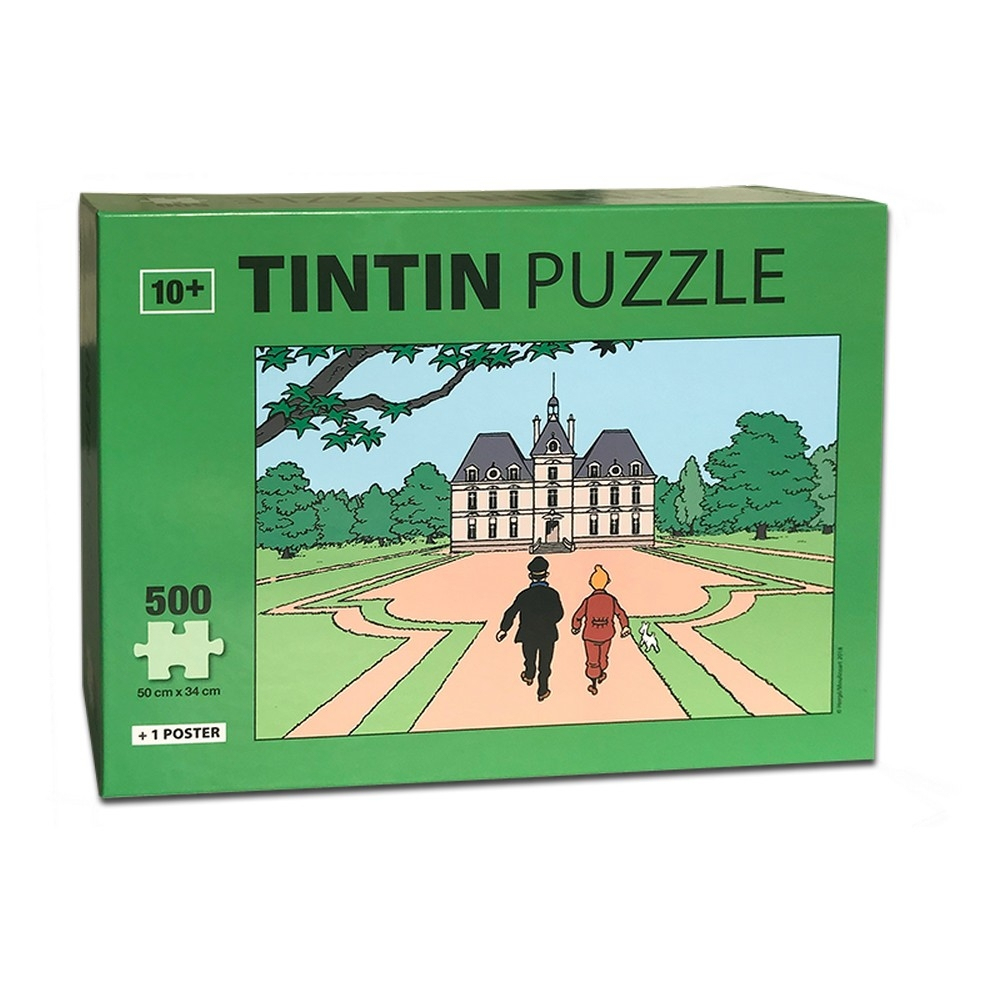 Tintin Puzzle The Castle Of Moulinsart With Poster 50X34Cm 81547 (2018) -  Bd Addik serapportantà Puzzle Photo Gratuit