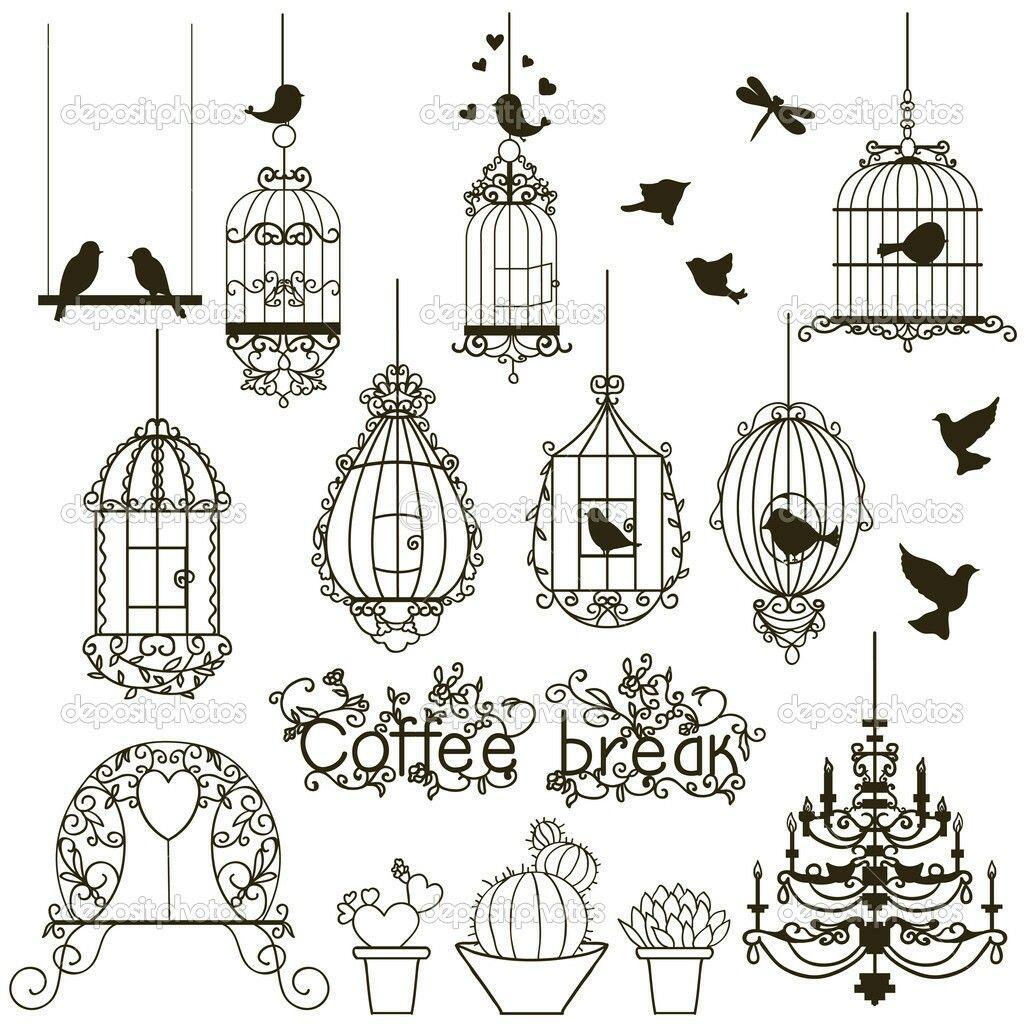 Title} (Avec Images) | Gribouillage, Dessin Oiseau, Dessin pour Dessin De Cage D Oiseau