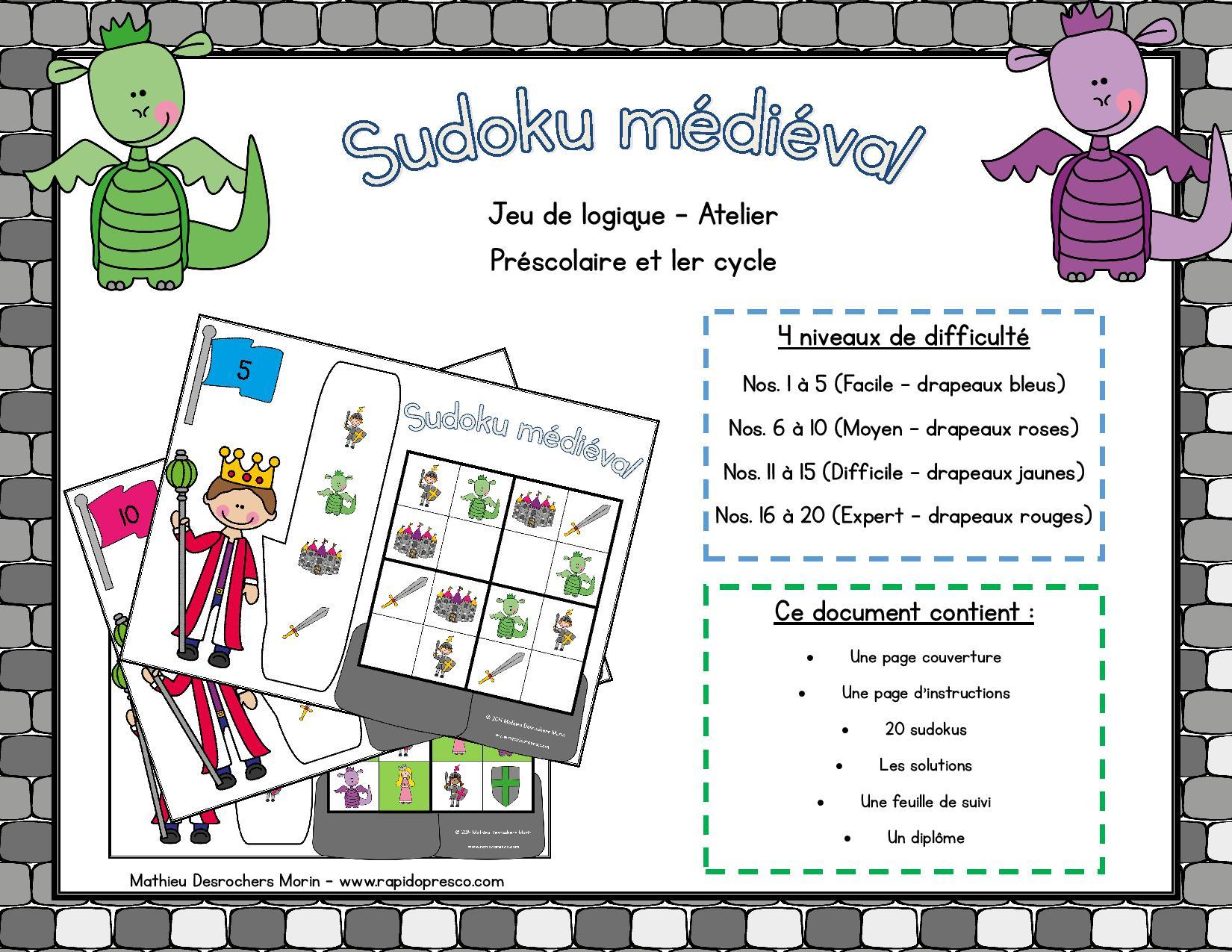 Tni – Rapido-Présco destiné Sudoku Maternelle À Imprimer