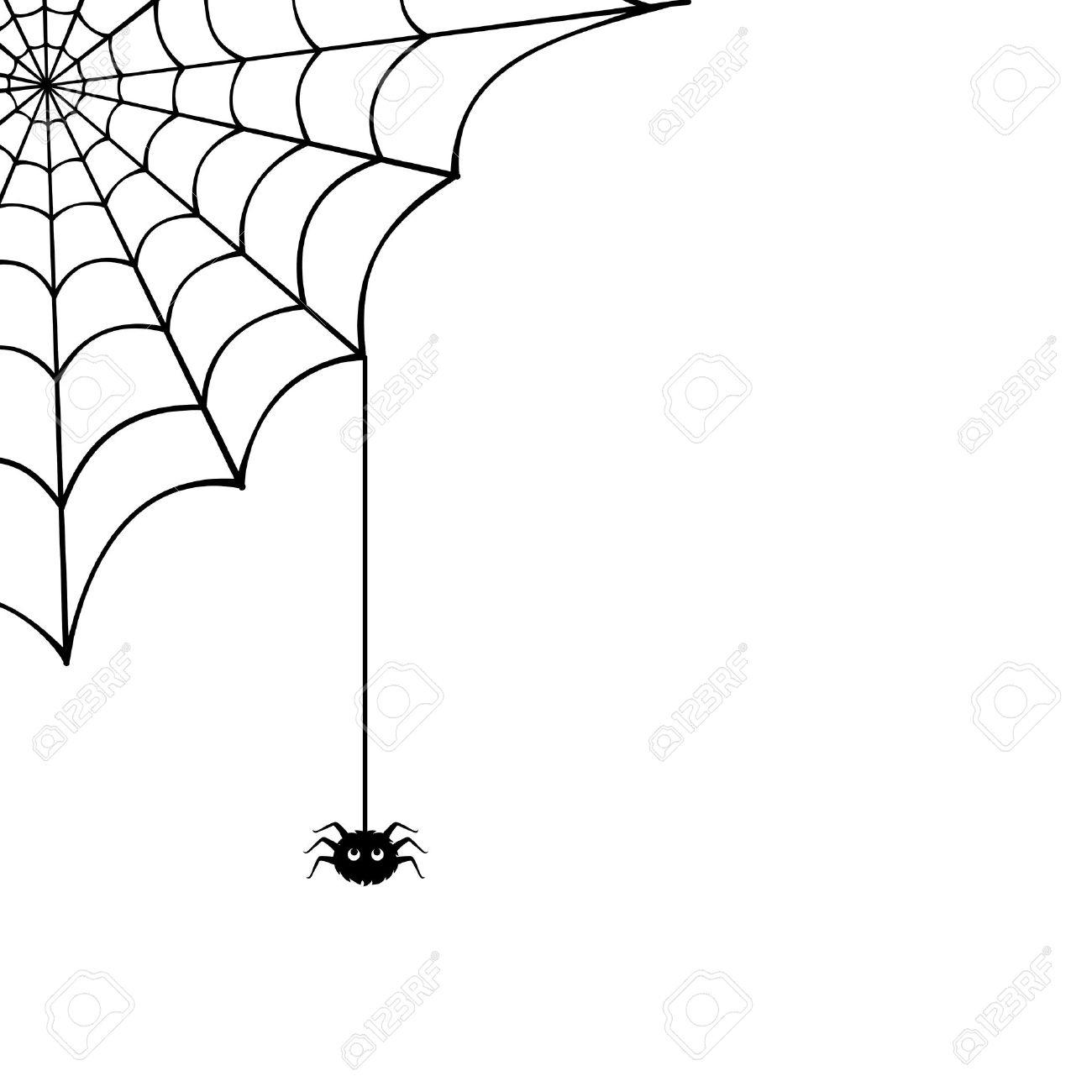Toile D'araignée Et Araignée Illustration destiné Toile D Araignée Dessin
