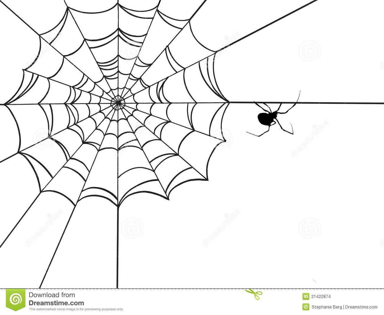Toile D'araignée Faisante Le Coin Illustration Stock encequiconcerne Toile D Araignée Dessin