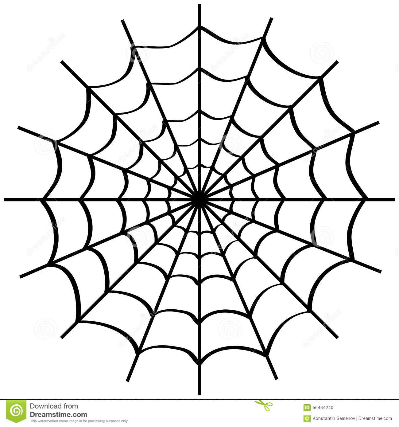 Toile D'araignée Sur Le Blanc Illustration Stock encequiconcerne Dessin Toile Araignée