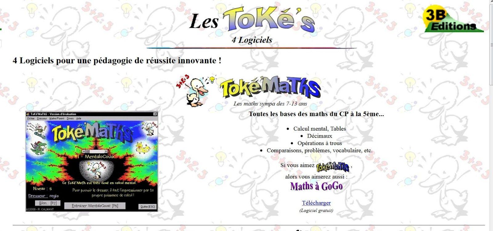 Toke'maths, C'est Un Petit Logiciel Ou Un Jeu En pour Jeux Pédagogiques En Ligne