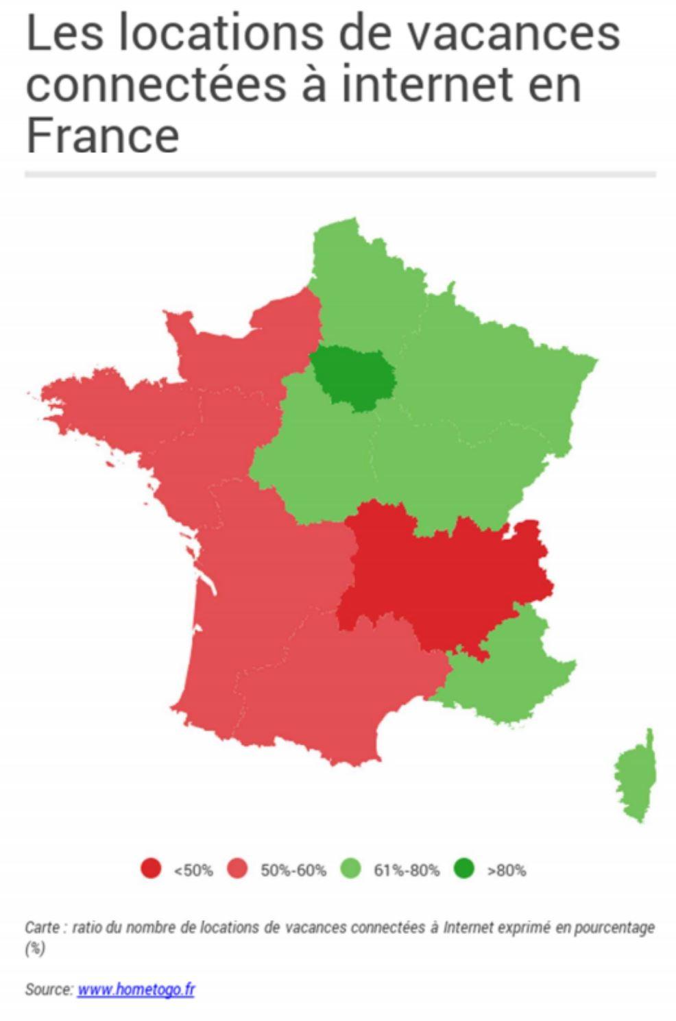 Top 3 Des Régions Françaises Les Plus Connectées !   Journal intérieur Carte Des Régions De France 2016