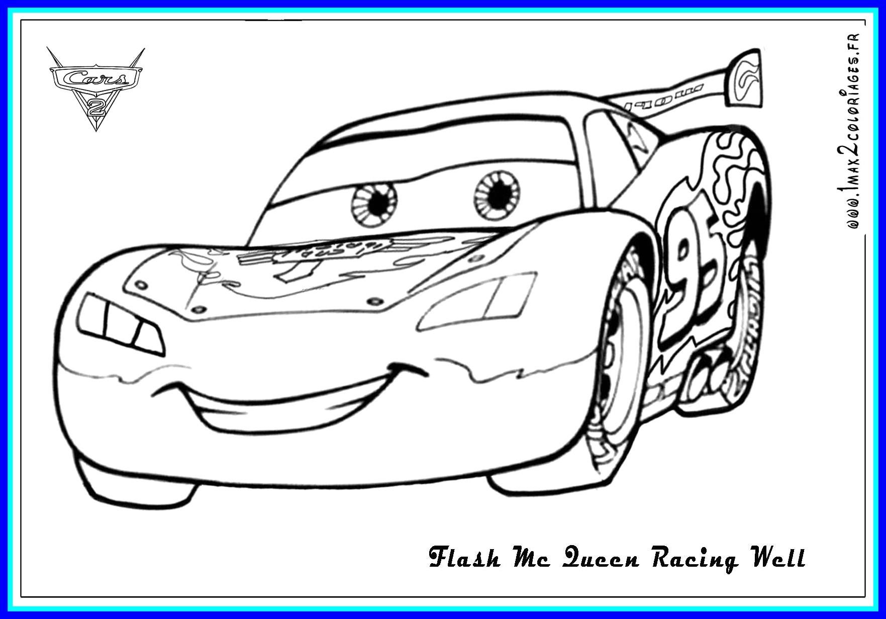 Top 32 Supreme Outstanding Disney Cars Coloring Pages à Coloriage De Flash Mcqueen