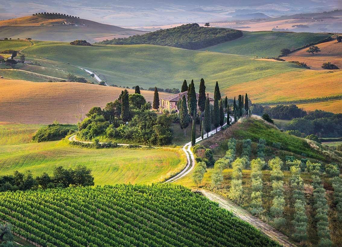 Toscane, Italie - 1000 Pièces Clementoni dedans Puzzle Gratuit Pour Fille De 3 Ans