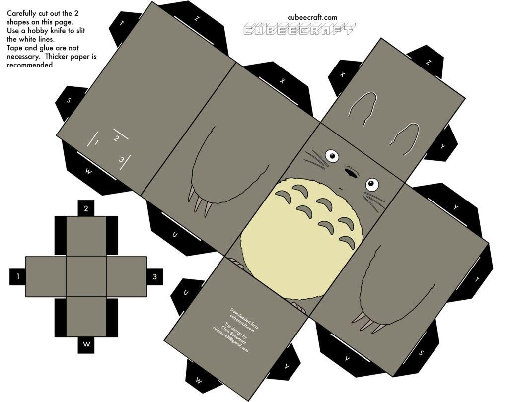 Totoro Paper Figure | Totoro Diy, Totoro, Totoro Party concernant Paper Toy A Imprimer