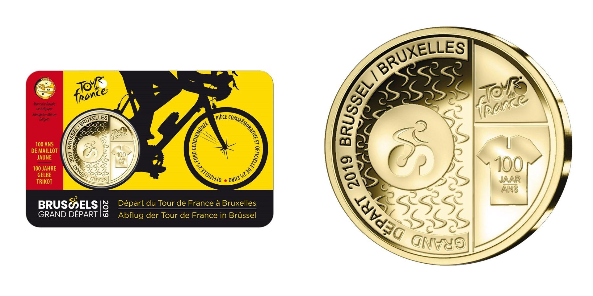 """Tour De France 2019: Une Pièce De Monnaie De 2,5 € """"grand pour Pièces Euros À Imprimer"""